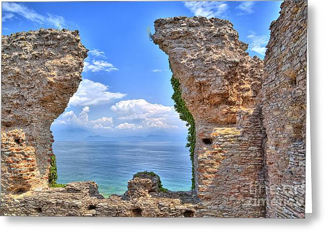 The Grotto Catullus In Sirmione At The Lake Garda Greeting Card by Regina Koch