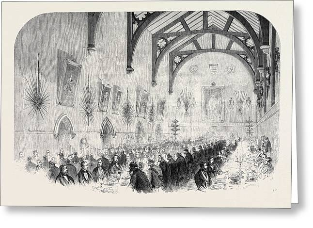 The Installation Of Lord Palmerston As Lord Warden Greeting Card by English School