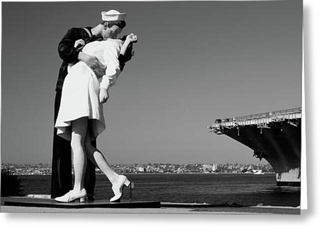 The Kiss Between A Sailor And A Nurse Greeting Card