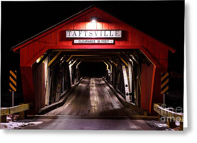 The Rebuilt Taftsville Covered Bridge. Greeting Card