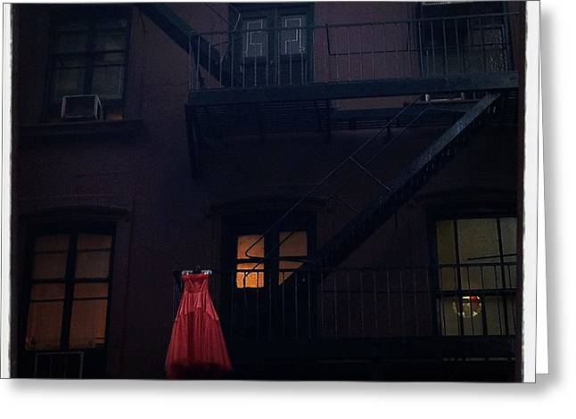 The Red Gown Greeting Card