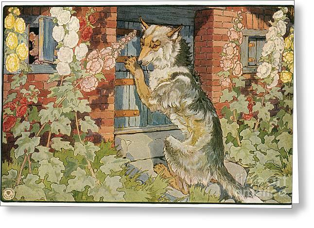The Three Little Pigs Greeting Card by Granger
