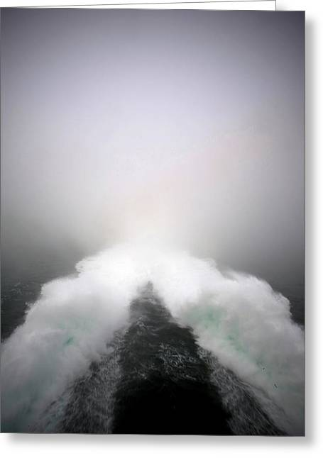 The Wake Of The High Speed Cat Ferry Greeting Card
