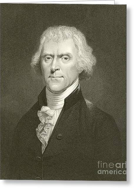 Thomas Jefferson Greeting Card by English School