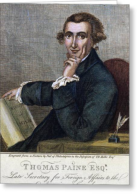 Thomas Paine (1737-1809) Greeting Card by Granger