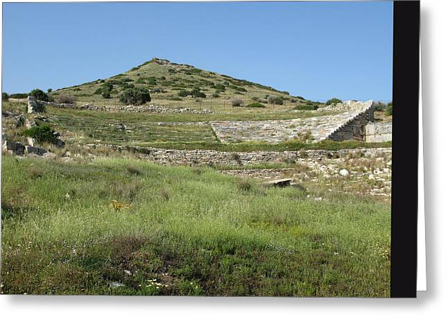 Thorikos Theatre Greeting Card by Andonis Katanos