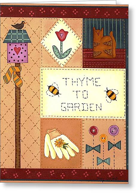 Thyme To Garden Greeting Card