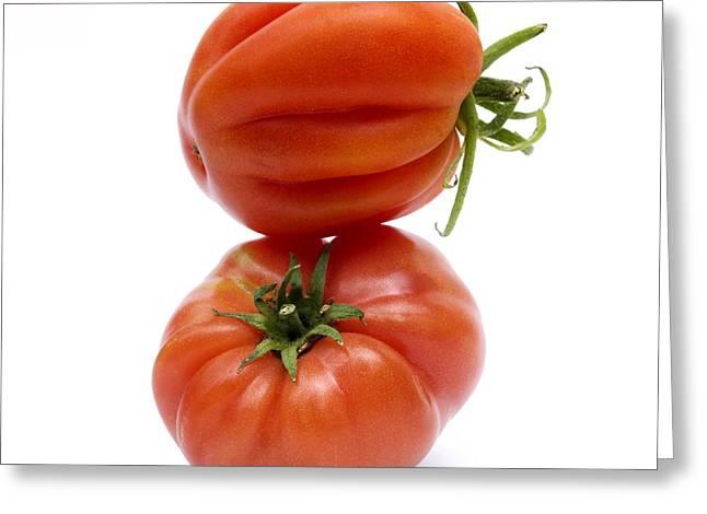 Tomatoes Greeting Card by Bernard Jaubert