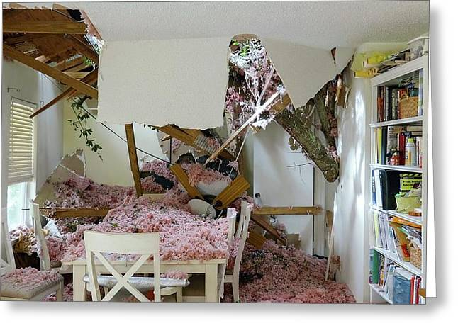 Tornado Damage Greeting Card