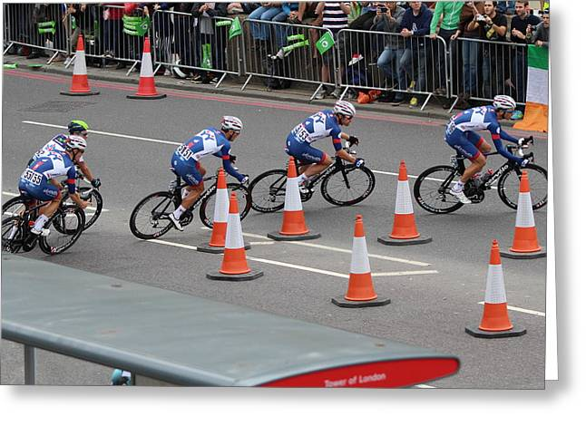 Interracial greeting cards page 3 of 5 fine art america tour of britain 2013 cycling london event greeting card m4hsunfo