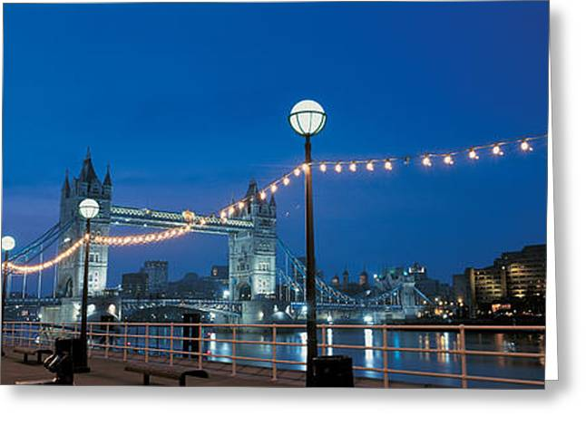 Tower Bridge London England Greeting Card by Panoramic Images