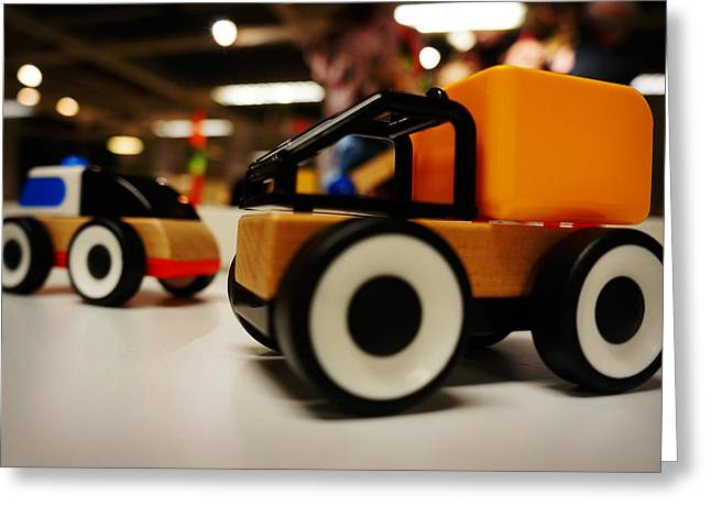 Toy Vehicle Greeting Card