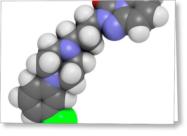 Trazodone Antidepressant Drug Molecule Greeting Card by Molekuul