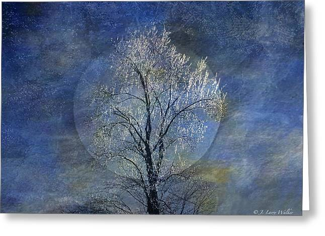 Tree Of Ice Greeting Card by J Larry Walker