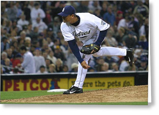 Greeting Card featuring the photograph Trevor Hoffman by Don Olea