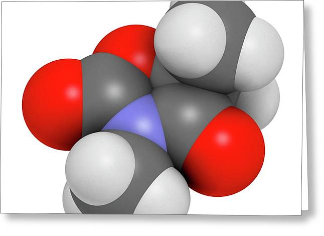 Trimethadione Anticonvulsant Drug Greeting Card by Molekuul