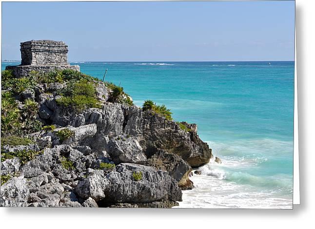 Tulum Mexico Coastal Mayan Ruin Greeting Card