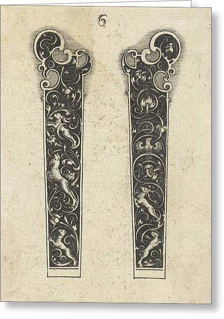 Two Knife Handles, Michiel Le Blon Greeting Card by Michiel Le Blon