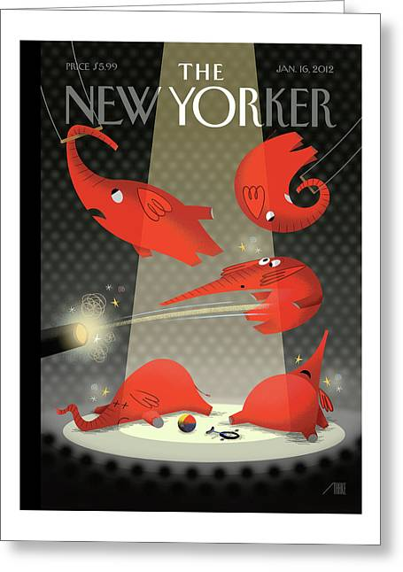 New Yorker January 16th, 2012 Greeting Card