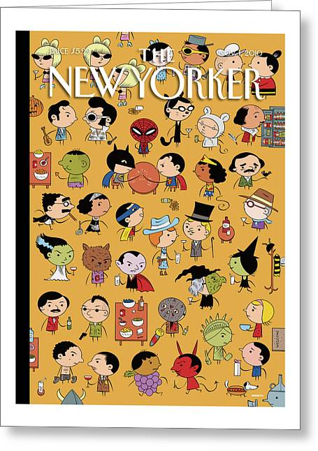 New Yorker November 1st, 2010 Greeting Card