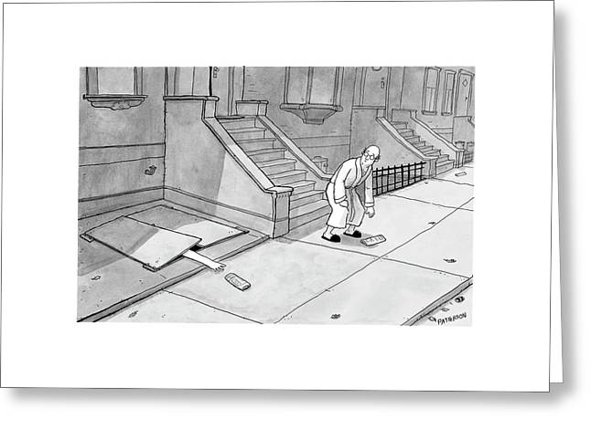 New Yorker December 24th, 2007 Greeting Card by Jason Patterson