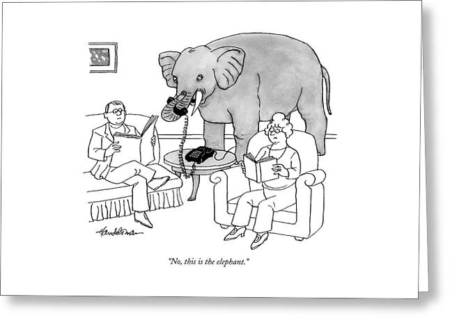 No, This Is The Elephant Greeting Card