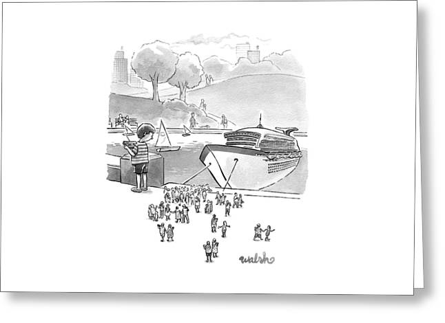New Yorker August 8th, 2016 Greeting Card