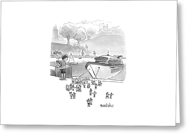 New Yorker August 8th, 2016 Greeting Card by Liam Walsh