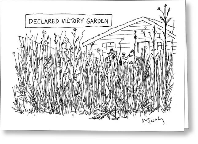 Declared Victory Garden Greeting Card
