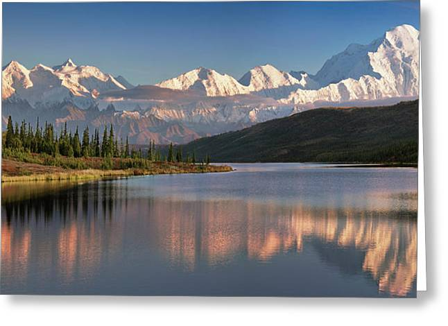 Usa, Alaska, Denali, Mt Greeting Card