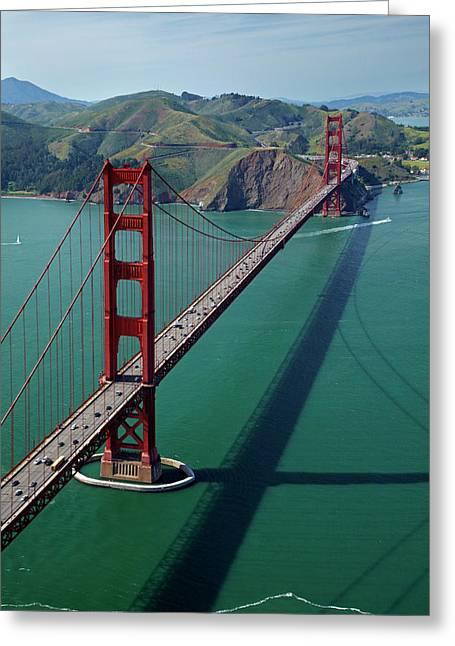 Usa, California, San Francisco, Golden Greeting Card
