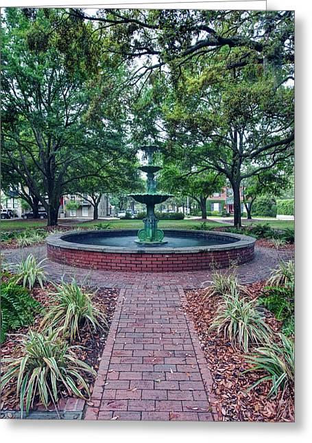 Usa, Ga, Savannah, Historic District Greeting Card by Rob Tilley