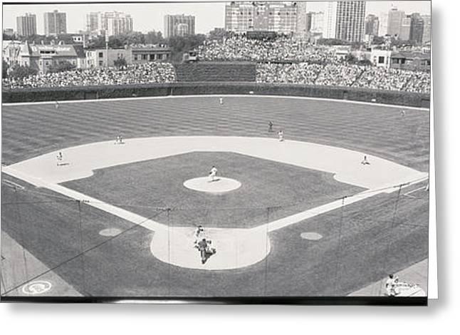 Usa, Illinois, Chicago, Cubs, Baseball Greeting Card