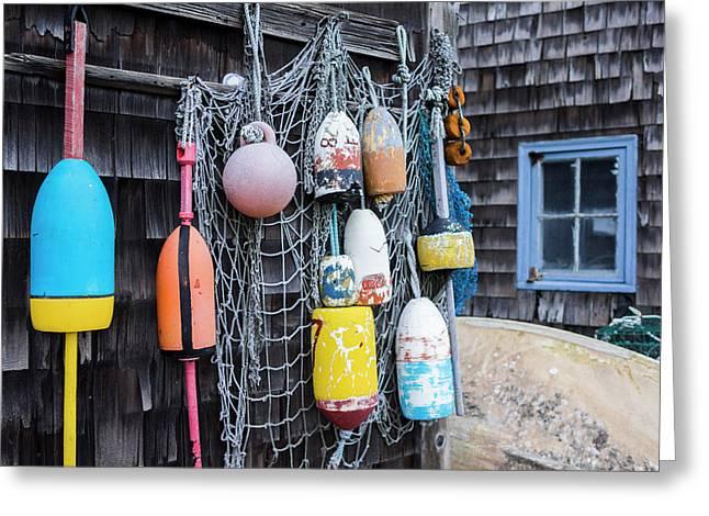 Usa, Massachusetts, Cape Ann, Rockport Greeting Card by Walter Bibikow