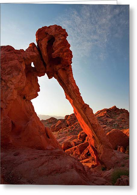 Usa, Nevada, Valley Of Fire State Park Greeting Card