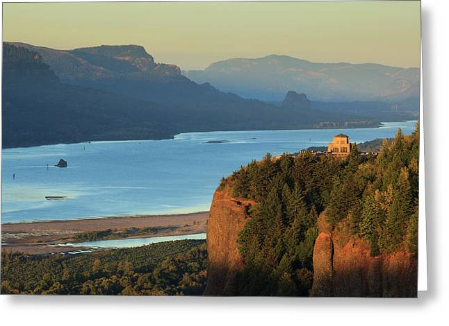 Usa, Oregon, Columbia Gorge Greeting Card by Rick A Brown