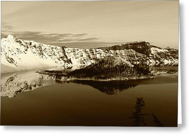 Usa, Oregon, Crater Lake National Park Greeting Card by Paul Souders