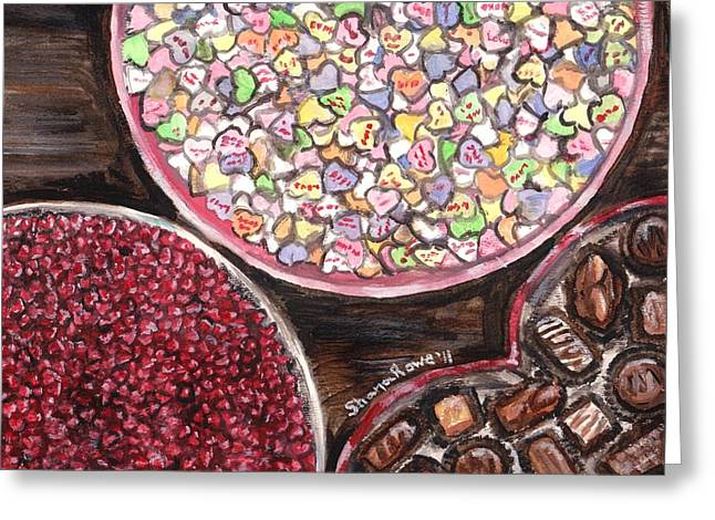 Valentines Day Candy Greeting Card by Shana Rowe Jackson