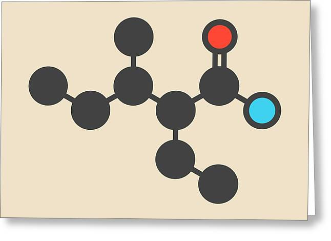 Valnoctamide Sedative Drug Molecule Greeting Card by Molekuul
