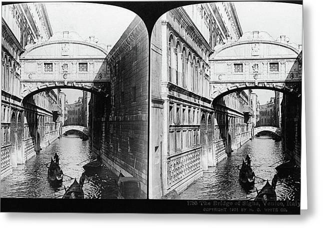 Venice Bridge Of Sighs Greeting Card by Granger