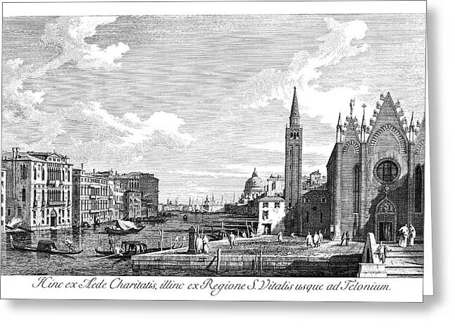 Venice Grand Canal, 1735 Greeting Card