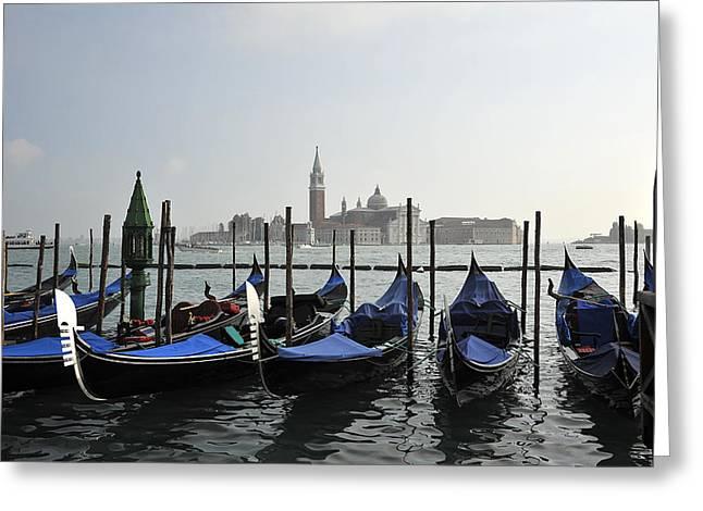 Venice  Italy Greeting Card by John Jacquemain