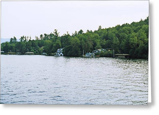 View From The Minne Ha Ha Steamboat Greeting Card by Panoramic Images