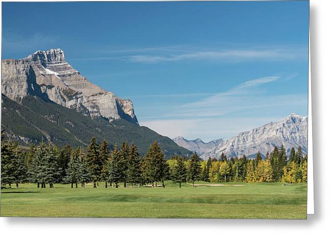 View Of The Canmore Golf Course, Mount Greeting Card