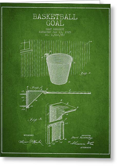 Vintage Basketball Goal Patent From 1925 Greeting Card by Aged Pixel