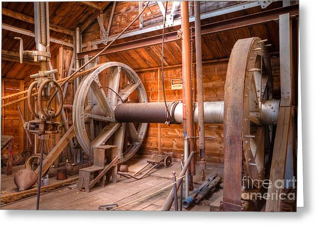 Greeting Card featuring the photograph Vintage Power by Lawrence Burry