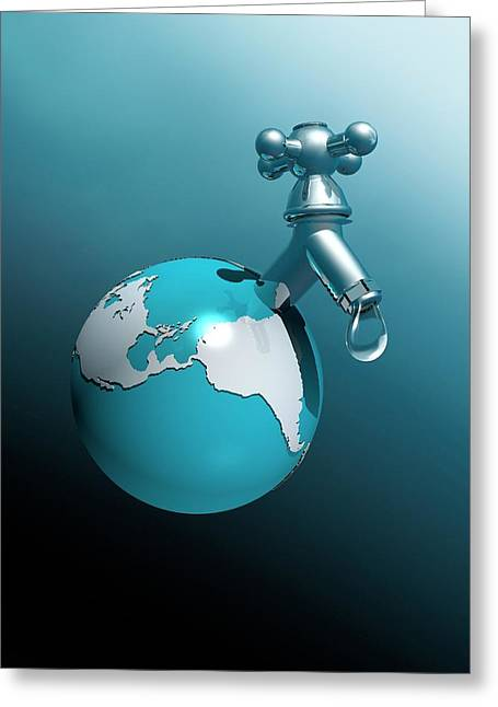 Water Shortage Greeting Card by Victor Habbick Visions