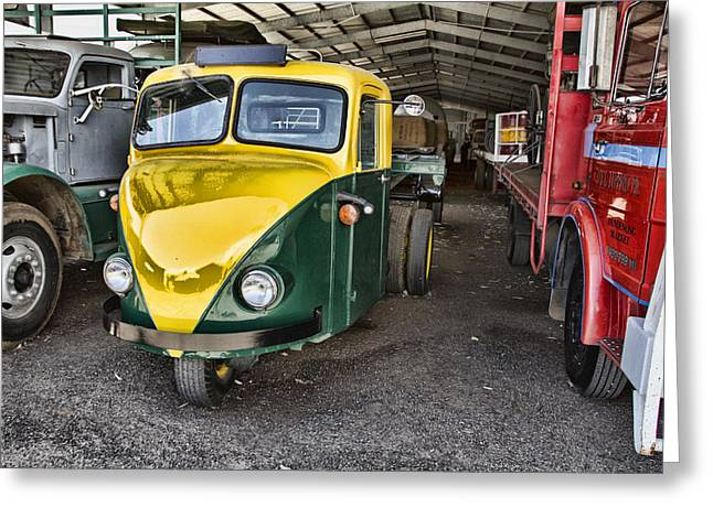 3 Wheeler Truck Greeting Card by Douglas Barnard