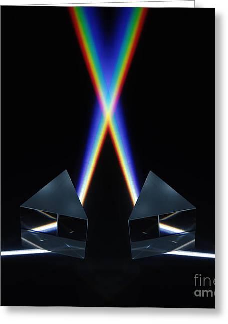 White Light Spectrum Greeting Card