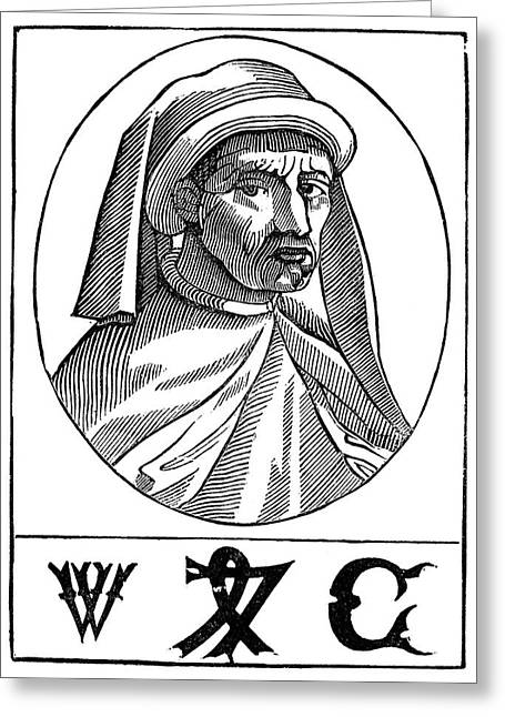 William Caxton (c1421-1491) Greeting Card by Granger